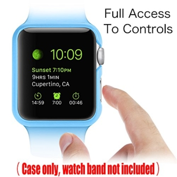 [6 Farbe Packung] Apple Watch Hülle, Fintie [Ultra-Dünn] Leichte Hochwertige Polycarbonat Harte Schutz Gehaüse Abdeckung für Apple Watch (2015), 42mm - 3