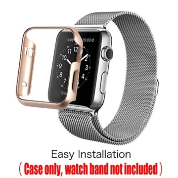 [6 Farbe Packung] Apple Watch Hülle, Fintie [Ultra-Dünn] Leichte Hochwertige Polycarbonat Harte Schutz Gehaüse Abdeckung für Apple Watch (2015), 42mm - 4
