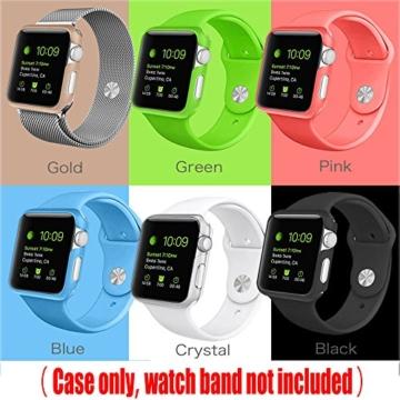 [6 Farbe Packung] Apple Watch Hülle, Fintie [Ultra-Dünn] Leichte Hochwertige Polycarbonat Harte Schutz Gehaüse Abdeckung für Apple Watch (2015), 42mm - 5