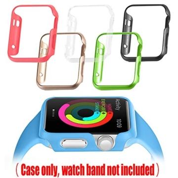 [6 Farbe Packung] Apple Watch Hülle, Fintie [Ultra-Dünn] Leichte Hochwertige Polycarbonat Harte Schutz Gehaüse Abdeckung für Apple Watch (2015), 42mm - 6