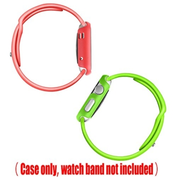 [6 Farbe Packung] Apple Watch Hülle, Fintie [Ultra-Dünn] Leichte Hochwertige Polycarbonat Harte Schutz Gehaüse Abdeckung für Apple Watch (2015), 42mm - 7