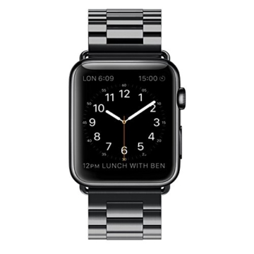 Apple Watch Armband, [5 Jahre Garantie ] Simpeak 42mm Apple Watch Edelstahl Ersatz-Armband für Apple Watch Sport Edition alle Modelle 42mm - 2