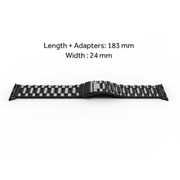 Apple Watch Armband, [5 Jahre Garantie ] Simpeak 42mm Apple Watch Edelstahl Ersatz-Armband für Apple Watch Sport Edition alle Modelle 42mm - 6