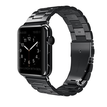 Apple Watch Armband, [5 Jahre Garantie ] Simpeak 42mm Apple Watch Edelstahl Ersatz-Armband für Apple Watch Sport Edition alle Modelle 42mm - 8