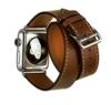 Apple Watch Band,Sundaree Leder Gliederarmband Apple Watch ECHT Leder Armband Uhrenband mit Uhrenadapter Connector Watch Adapter Echtes Leder Strap Genuine für Apple Watch(Dunkelbraun-38mm) - 1