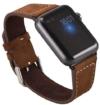 Apple Watch ECHT Leder Armband Uhrenband mit passendem schwarzem Uhrenadapter Connector Watch Adapter Wildleder Erstatzband Strap Genuine 42 mm Basic, Sport, Edition - in Braun von OKCS - 1