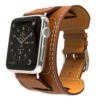 Apple Watch Hermès Armband,Moko Cuff Lederarmband Replacement Wrist Band Watchband Strap Watchband Uhrband Uhrenarmband Erstatzband für 42mm iWatch 2015,Braun - 1