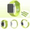 Apple Watch Uhrenarmband Zubehör 42 mm, Vandot Entwurf TPU Silikon Sport Uhren Armband Riemen Replacement Strap mit aus Edelstahl Schnalle Adaptor Wrist Band Für Apple Watch 42 mm Original Bracelet High Toughness, Frisch Grün (3 St. Armbänder für 2 Längen ) - 1