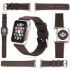 Handgefertigtes Echtleder Armband Strap Band für Apple Watch iWatch 42mm aus weichem sehr hochwertigem Leder Dunkelbraun Vintage INKLUSIVE Connector in einer Geschenkbox - Braun von CoinKeeper - 1