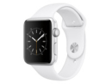 Apple Watch 2, 42 mm, Aluminiumgehäuse silber, Sportarmband weiß