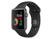 Apple Watch 2, 42 mm, Aluminiumgehäuse spacegrau, Sportarmband schwarz