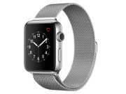 Apple Watch 2, 42 mm, Edelstahlgehäuse silber, Milanaise Armband silber