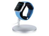 Just Mobile LoungeDock, Ständer mit Ladestation für Apple Watch, silber-schwarz