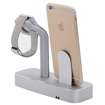 NIUTOP Apple Watch Stand, 2 in 1 Premium Aluminium Ladestation -