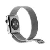 bluestein® Apple Watch Armband, Premium Edelstahl Milanaise, mit Magnetverschluss, passend für Apple Watch 1 & 2 (42mm, Silber) -