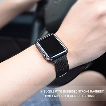 Hoco für Apple Watch Band, pinhen Hoco Präzision Classic Polieren Edelstahl Band Strap Armband Wrist Band Ersatz für Apple Watch -
