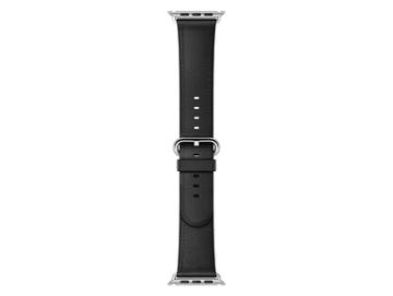 Apple Watch 42 mm klassisches Lederarmband, schwarz