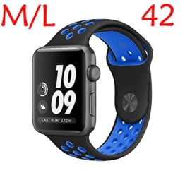 Apple Watch Armband Nike+ 38mm/42mm Replacement, Kobwa Silikon Sport IWatch Band Uhrenarmband Ersatzband für Apple Watch Series 2 / Series 1 -
