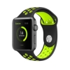 EloBeth For Apple Watch Armband Series 1 Series 2- Sport Smart Watch Silikon Strap Replacement Wrist Band Uhrenarmband Ersatzband Bügel für Apple iWatch/Apple Watch Nike+ (42mm, Schwarz/Gelb) -