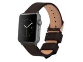 Monowear Lederarmband, für Apple Watch 42 mm, schwarz-grau