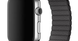 Ularma Echtes Leder Loop Band Armband für iWatch 42mm Breit Grau -
