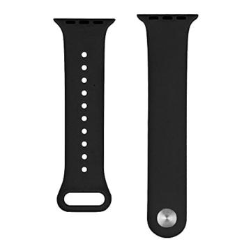 ZRO für Apple Watch Armband, Soft Silikon Ersatz Uhrenarmbänder für 42mm iWatch Serie 3/ Serie 2/ Serie 1, Größe S/M, Schwarz - 3
