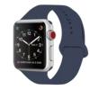 ZRO für Apple Watch Armband, Soft Silikon Ersatz Uhrenarmbänder für 42mm iWatch Serie 3/ Serie 2/ Serie 1, Größe S/M, Mitternacht Blau - 1
