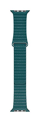 Apple Watch (44mm) Lederarmband mit Schlaufe, Pfauenblau - Large - 1