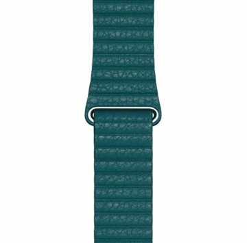 Apple Watch (44mm) Lederarmband mit Schlaufe, Pfauenblau - Large - 2