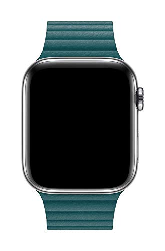 Apple Watch (44mm) Lederarmband mit Schlaufe, Pfauenblau - Large - 3