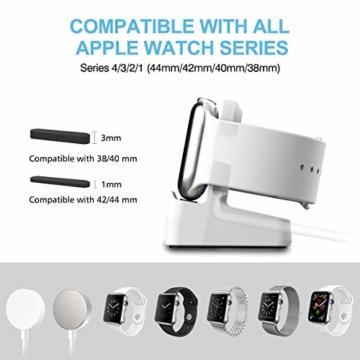 Cozycase Ladestation Ständer kompatibel mit Apple Watch Series SE/Series 6/ Series 5/ Series 4/ Series 3/ Series 2/ Series 1, Halterung Dockingstation für 44mm/ 42mm/ 40mm/ 38mm (Weiß) - 2