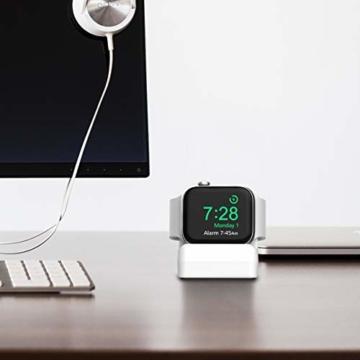 Cozycase Ladestation Ständer kompatibel mit Apple Watch Series SE/Series 6/ Series 5/ Series 4/ Series 3/ Series 2/ Series 1, Halterung Dockingstation für 44mm/ 42mm/ 40mm/ 38mm (Weiß) - 4