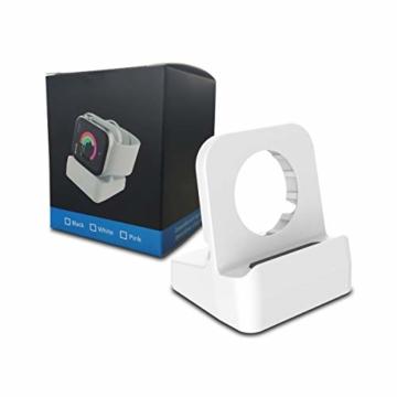 Cozycase Ladestation Ständer kompatibel mit Apple Watch Series SE/Series 6/ Series 5/ Series 4/ Series 3/ Series 2/ Series 1, Halterung Dockingstation für 44mm/ 42mm/ 40mm/ 38mm (Weiß) - 5