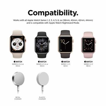 elago W2 Stand Apple Watch Ladestation Ständer Kompatibel mit Apple Watch Series 6, SE (2020) / Series 5 / Series 4 / Series 3 / Series 2 / Series 1 / 44mm / 42mm / 40mm / 38 mm (Weiß) - 2