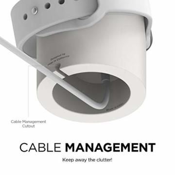 elago W2 Stand Apple Watch Ladestation Ständer Kompatibel mit Apple Watch Series 6, SE (2020) / Series 5 / Series 4 / Series 3 / Series 2 / Series 1 / 44mm / 42mm / 40mm / 38 mm (Weiß) - 4