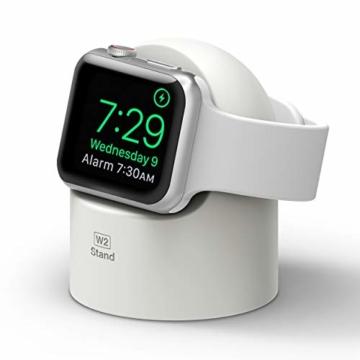 elago W2 Stand Apple Watch Ladestation Ständer Kompatibel mit Apple Watch Series 6, SE (2020) / Series 5 / Series 4 / Series 3 / Series 2 / Series 1 / 44mm / 42mm / 40mm / 38 mm (Weiß) - 1
