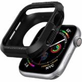 Spigen Rugged Armor Kompatibel mit Apple Watch Hülle für 44mm Serie 6/SE/5/4 - Schwarz - 1