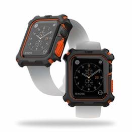 Urban Armor Gear Apple Watch Hülle für Apple Watch Series 5 (44mm) und Apple Watch Series 4 (44mm) (Rugged Case mit Snap-On-Design) - schwarz/orange - 1