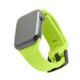 Urban Armor Gear Scout Armband für Apple Watch 42mm / 44mm [Watch SE, Series 6 / Series 5 / Series 4 / Series 3 / Series 2 / Series 1, Weiches Silikon Ersatzband, Edelstahl Verschluss] neon grün - 1